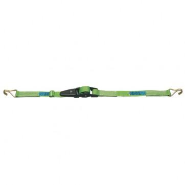 Sangle d'arrimage avec tendeur à levier largeur 45 mm longueur 5 m avec crochets serrés
