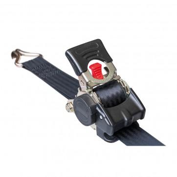 """Sangle d'arrimage auto rétractable largeur 25 mm crochets """"S"""" ou spécial moto"""