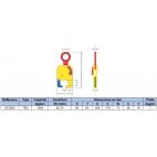 Pince spéciale pour le levage de rails à l'horizontale CMU 1500 KG