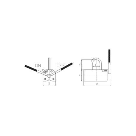 Aimant de levage permanent BHP CMU 100 à 5000 Kg