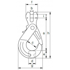 Crochet de sécurité compact à chape GKC