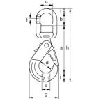 Crochet de sécurité compact à émerillon GKE