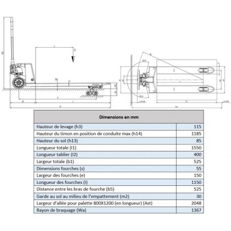 Transpalette GS 25 basic