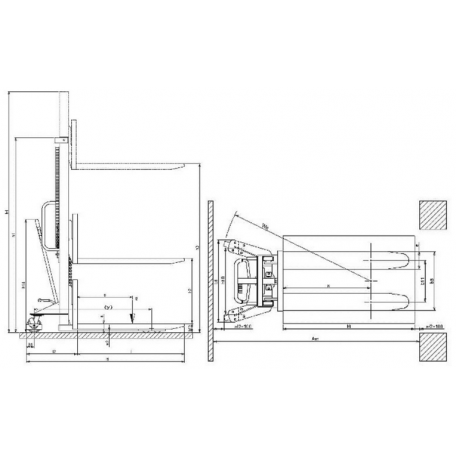 Gerbeur manuel MX1016 1000 Kg
