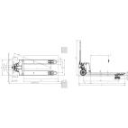Transpalette manuel GS PRO 2.5 T