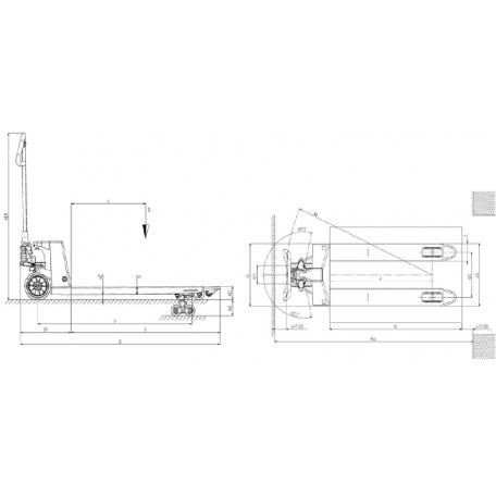 Schéma transpalette GS EVO Mr HYDRO Galva 2.5T