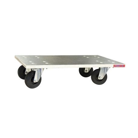 Plateau roulant bois Glissnot roues caoutchouc CU 210 kg