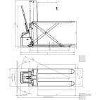 Schéma tire-palette haute levée électrique HX10E