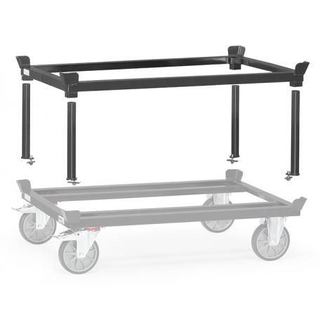 Support amovible pour rouleur de palettes gris ral 7016