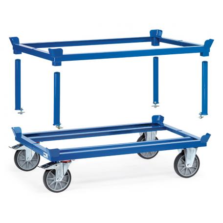 Support amovible pour rouleur de palettes bleu ral 5007