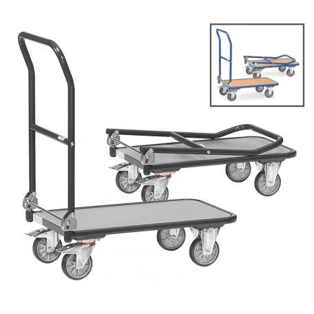 Chariot pliable 250 kg gris ou bleu
