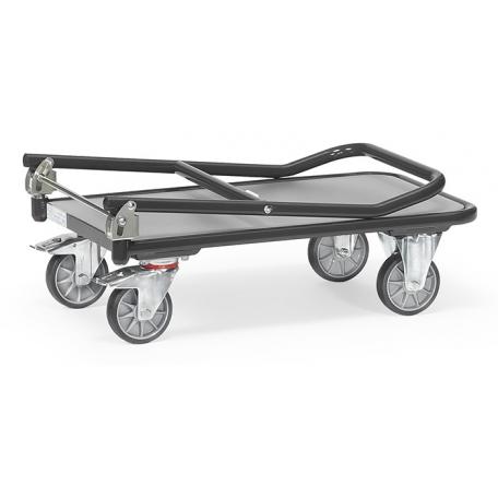 Chariot repliable avec dossier rabattu