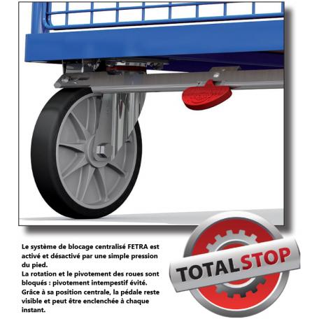Chariot pliable avec option TotalStop
