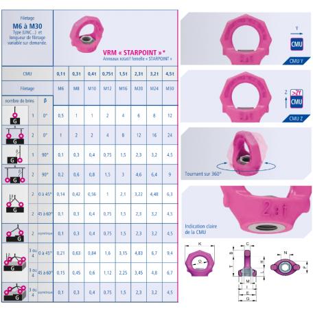 Conseil d'utilisation anneau de levage à œil femelle VRM