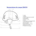 Nomenclature casque de chantier ZENITH KASK