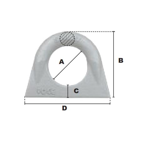 Schéma coté anneau à souder droit