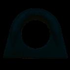 Anneau à souder droit acier brut noir ASH - accessoire de levage