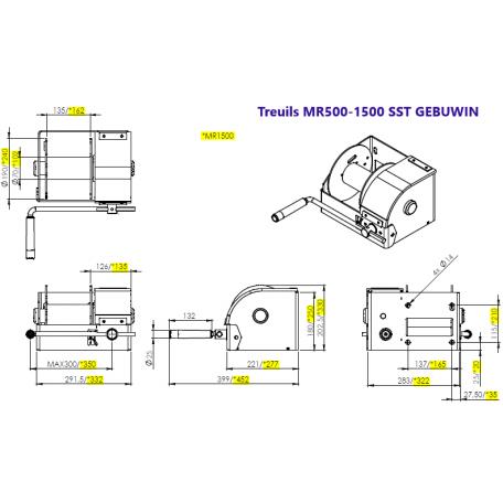 Schémas cotés MR500 et MR1500 SST