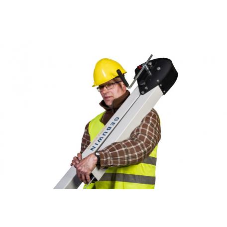 Potence transportable sur chantier repliée