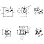Schéma coté treuil mécanique WA200