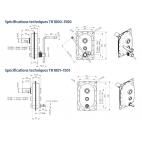 Schémas cotés TK1000 1500 et TK1001-1501