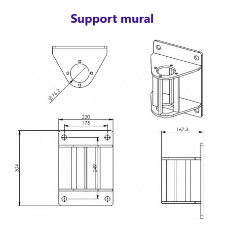 Module d'ancrage mural