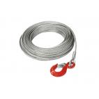 Câble en acier galvanisé avec boucle cossée et crochet de sécurité