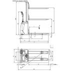 Schéma coté gerbeur électrique RX
