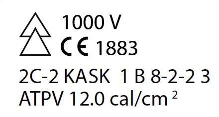 Etiquette de marquage visière ARC FLASH 2
